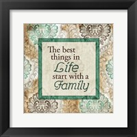 Start With A Family Framed Print