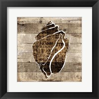 Wooden Shell Words Framed Print