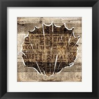 Wooden Shell Words Mate Framed Print