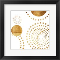 Framed Golden Dots