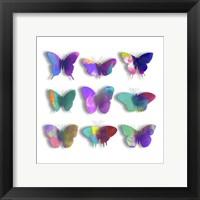 Watercolor Butterfly Pop Framed Print