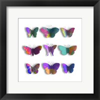 Watercolor Butterfly Pop Mate Framed Print
