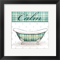 Relaxed Plaid Bath Mate Framed Print