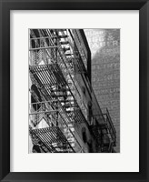 Escaping The Fire B Framed Print