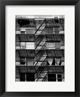 Escaping The Fire D Framed Print