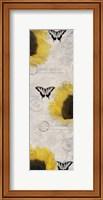 Framed Carte Postale Sunflowers
