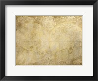 Framed World Map in Gold