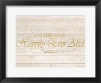 Happily Ever After Framed Print