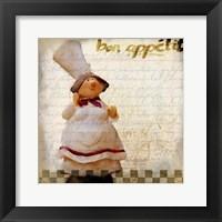 Framed Bon Appetit 1