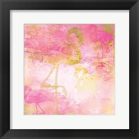 Framed Flamingo Pink 1