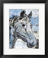 Framed Sketched Rustic Horse
