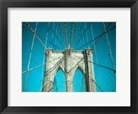 Framed Brooklyn Aqua
