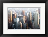 Framed Hazy NYC Skyline