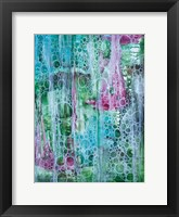 Teal Bubbles Framed Print