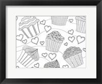 Framed Cupcake Love