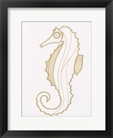 Golden Seahorse Framed Print
