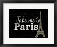 Framed Take me to Paris