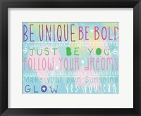 Framed Bright Inspiration 1