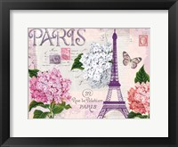 Framed Paris in Lavendar