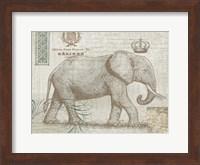 Framed Elegant Safari Elephant 2