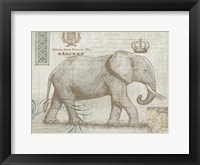 Framed Elegant Safari Elephant 2