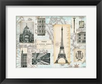 Framed Paris Collage Global