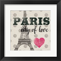 Framed Paris In Love