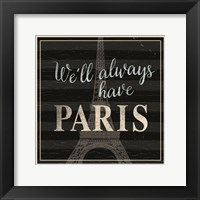 Framed Always Paris Dots