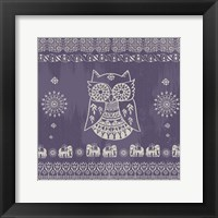 Framed Boho Owl Purple