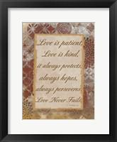 Framed Loving Corinthians