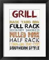 Grill Board Framed Print
