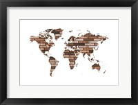 Map Your Adventures 2 Framed Print
