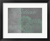 Floral Believe 5 Framed Print