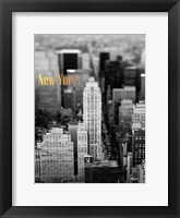 Framed Gold NY Fifth Ave
