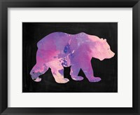 Framed Purple Bear