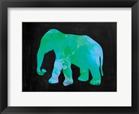 The Turquoise Elephant Framed Print