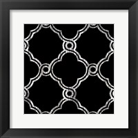 Black Fence 1 Framed Print