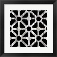 Black Fence 2 Framed Print