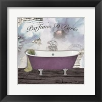 Framed Watercolor Bath