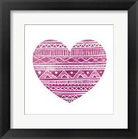 Tribal Heart 2 Framed Print
