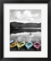 Framed Kayaks Pastels