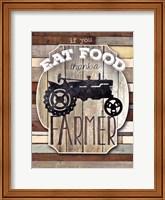 Framed Thank A Farmer