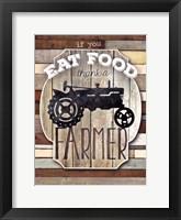Thank A Farmer Framed Print