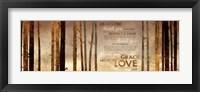 Framed Family Prayer - Trees