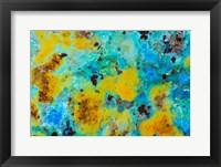 Framed Blue Chrysocolla Jasper