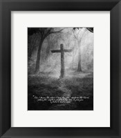 Framed Jeremiah 29:11 For I know the Plans I have for You (Black & White Cross)