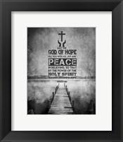 Framed Romans 15:13 Abound in Hope (Black & White)