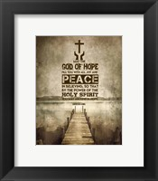 Framed Romans 15:13 Abound in Hope (Sepia)