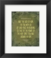 Framed Romans 15:13 Abound in Hope (Green)
