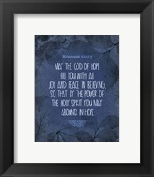 Framed Romans 15:13 Abound in Hope (Blue)